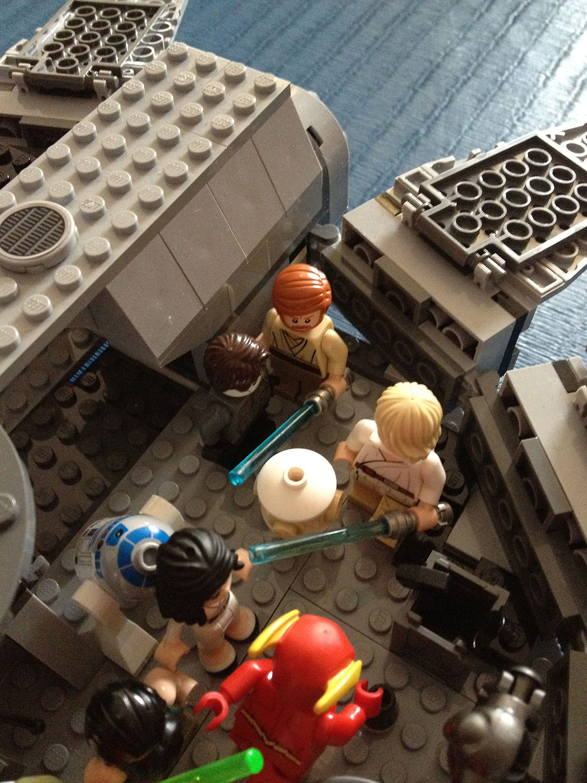 Flash helps Obi-Van with levelling up Luke's abilities.